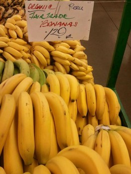 Peruvian organic fair-trade bananas at Berkeley Bowl