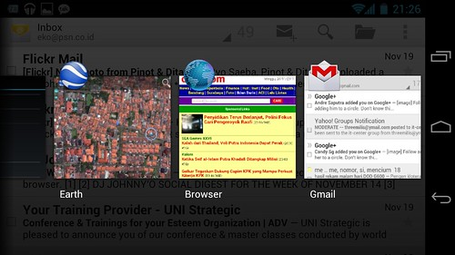 Multitasking di Samsung Galaxy Nexus