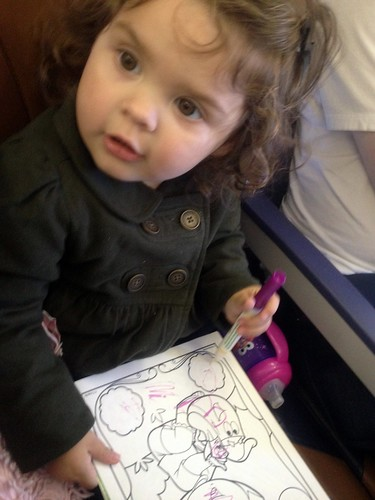 coloring with Dora