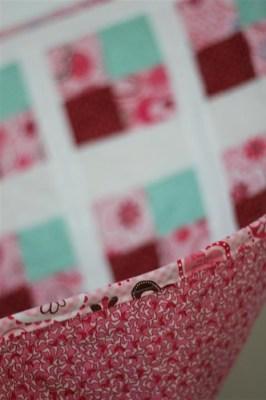Back, binding & quilting detail of Susan's