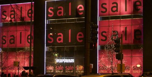 SALE 50% Off, Top Shop, Michigan Avenue, Chicago, December 2011