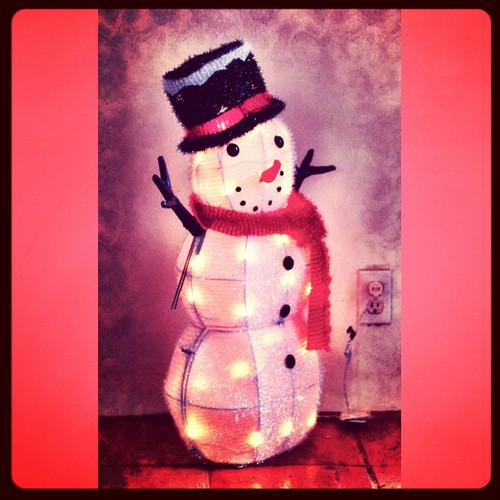 The Snowman at Paige's house- Montecito Heights, LA.