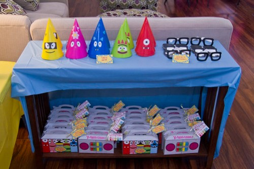 hats and party favors