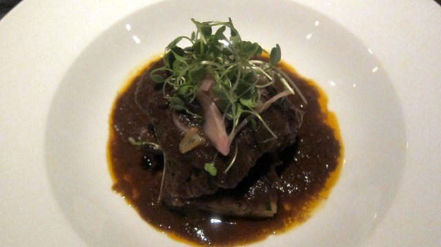 braised short rib at cardamom hill