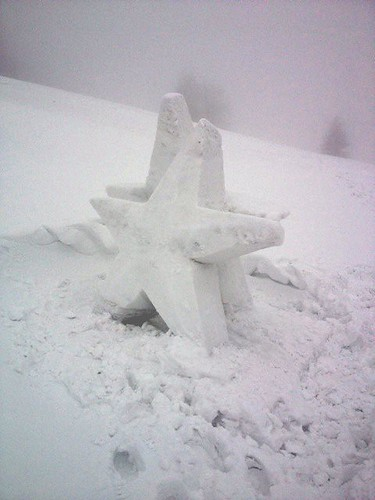 Snow sculpture outside Snow Church