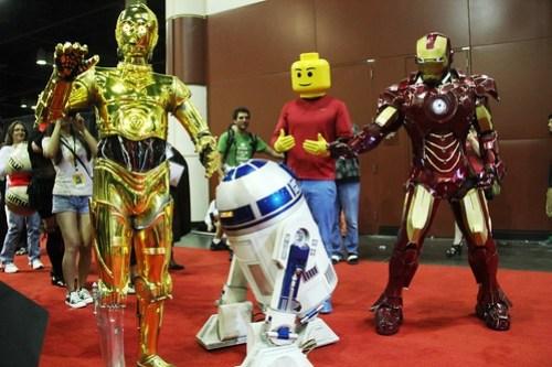 C-3PO, R2-D2, Iron Man, LEGO man - MegaCon 2012