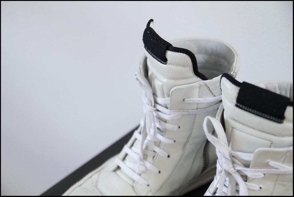 Tuukka13 - Sneak Preview - My New Rick Owens High Top Sneakers in White - 3