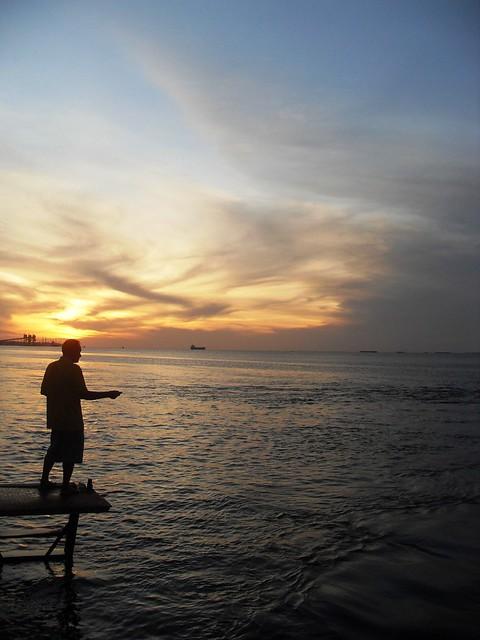 Pesca crepuscular. Foto: Sara Figueira