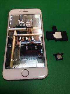 80_iPhone6のイヤースピーカー&ラウンドスピーカー交換