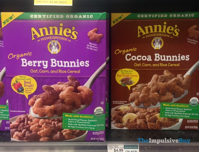 Annie's Homegrown Organic Berry Bunnies and Cocoa Bunnies Cereals