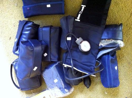 Pile of blood pressure cuffs