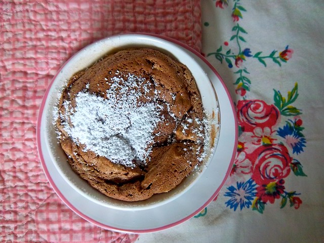 mini chocolate truffle souffles with chinese 5 spice