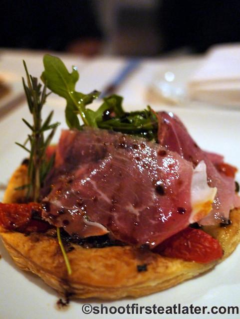 Fig & Olive- fig gorgonzola tartlet $15