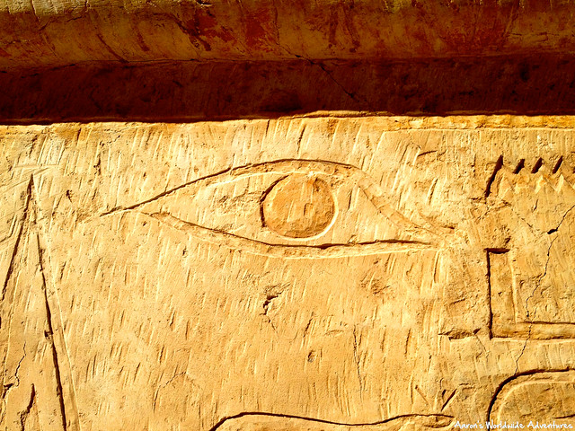 Carved Eye at Temple of Hatshepsut