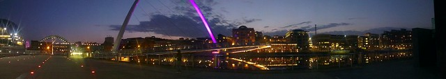 Gateshead by night