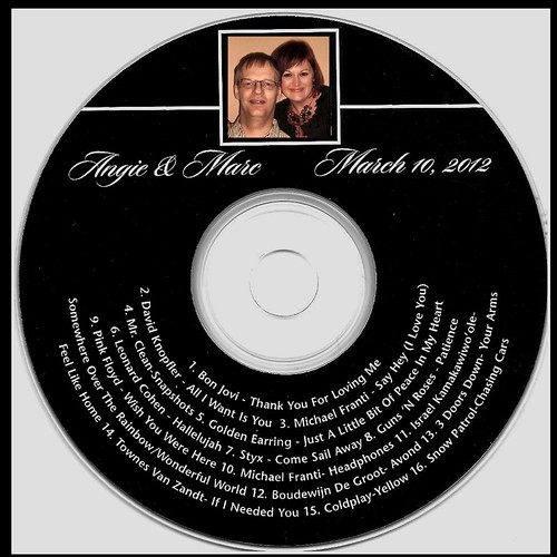 Our Wedding CD Favor