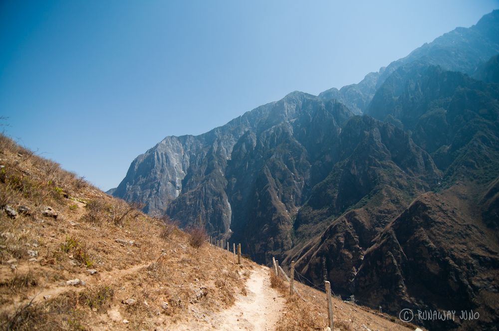 Hiking path in Tiger Leaping Gorge