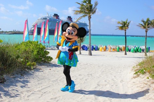 Minnie Mouse at Castaway Cay