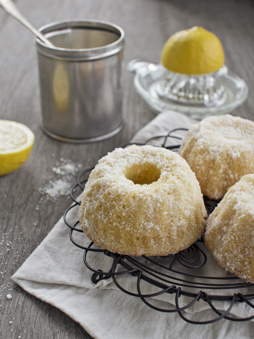 mini lemon sugar bundt cakes