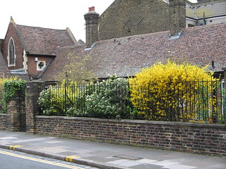 Alms houses behind Clapton Pond, Hackney