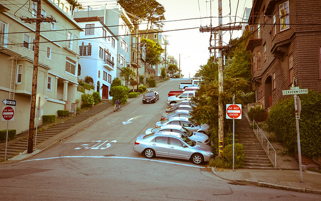 Steepest grade in downtown San Francisco