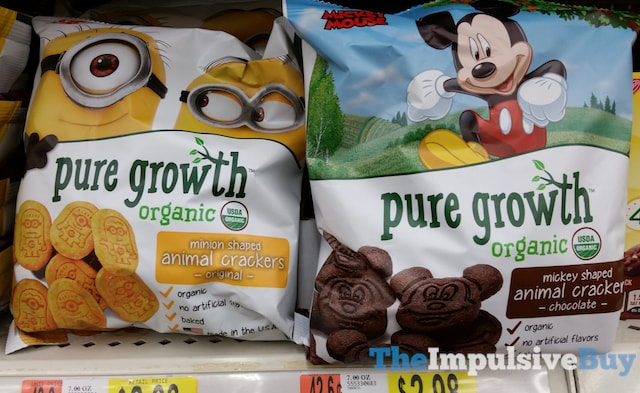 Pure Growth Minion and Mickey Mouse Animal Crackers
