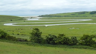Meander river, Seven Sisters Country Park, East Sussex