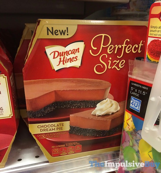 Duncan Hines Perfect Size Chocolate Dream Pie