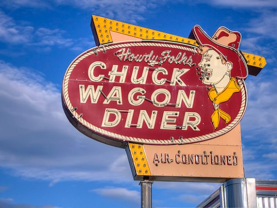 Chuck Wagon Diner Sign - Sweet and Savoring