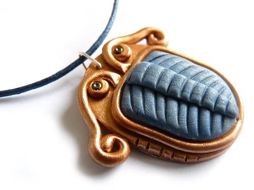 trilobite polymer clay necklace pendant tutorial