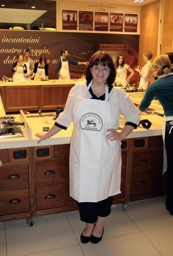 Alex at chocolate school, Perugina Chocolate Factory in Perugia, Umbria, Italy