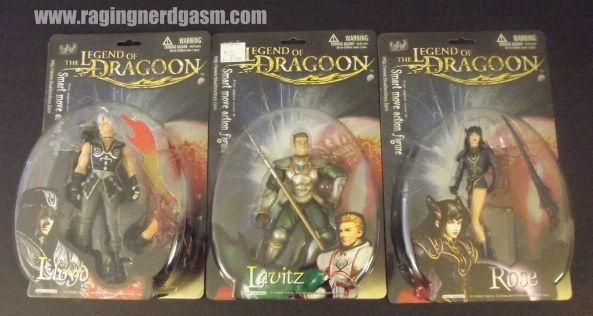 Legends of Dragoon Figures- Lloyd, Rose, and Lavitz