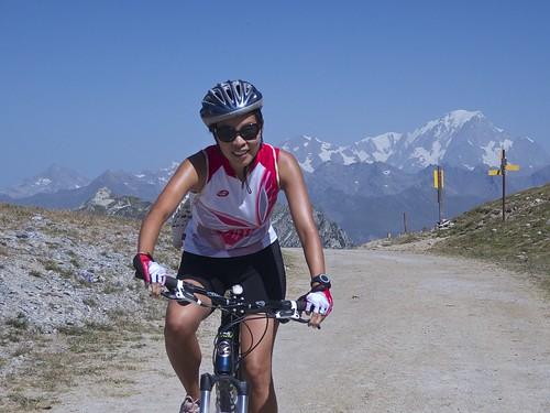 Doreen atop Col de Chal