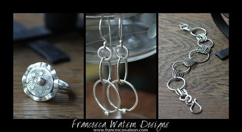 Fused Silver Jewelry by Francesca Watson Designs