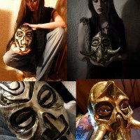 """You too can make an awesome Dragon Priest masks from """"Elder Scrolls V: Skyrim"""""""