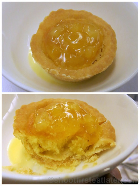 Philippine Airlines Business Class meal Mnl-Hkg-Mnl- apple frangipane with vanilla sauce