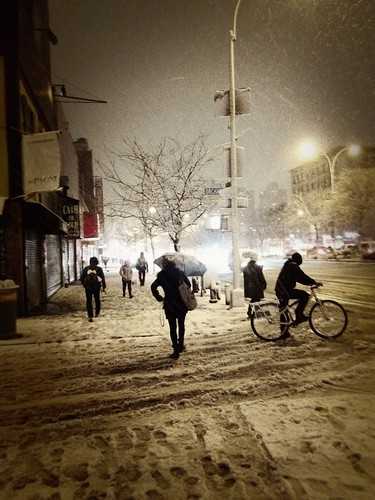 New York City Snow - Lower East Side - Delancey Street