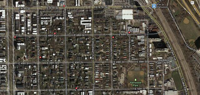 Satellite view of Boss Season 2 Filmings in Kenwood