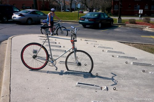 Whacky bike parking!