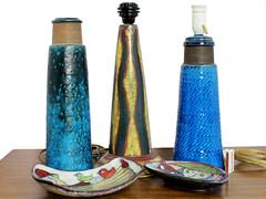 Scandianvian Mid Century Lamps and Ceramics