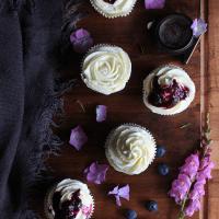 Cupcakes de Limón con salsa de arándanos