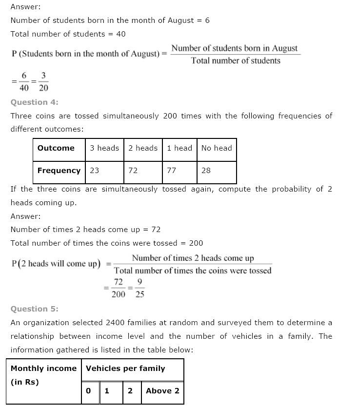 NCERT Solutions for Class 9th Maths: Chapter 15 Probability Image by AglaSem