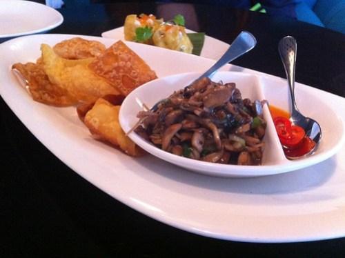 Wild mushroom, truffle, wonton chips