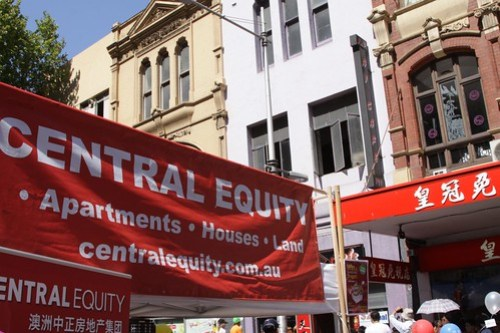 You can't have a Chinese New Year Festival in Melbourne without property spruikers