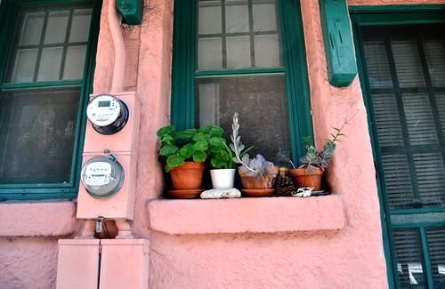 Apartment Window Sill in Historic Burns Square Neighborhood, Sarasota, Fla., Jan. 29, 2012