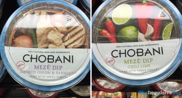 Chobani Meze Dip (Smoked Onion & Parmesan and Chili LIme)