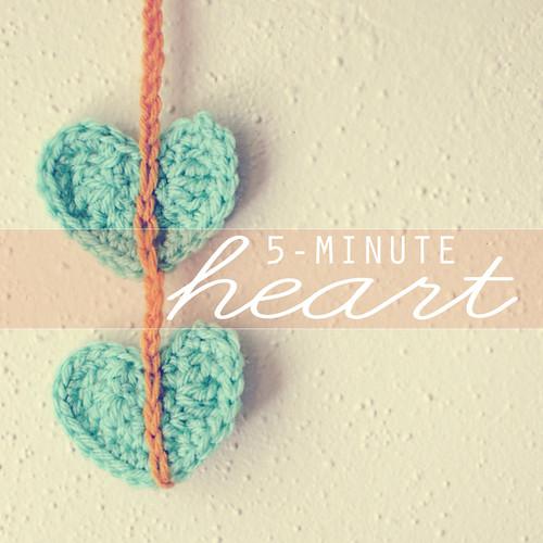 5-minute crochet heart