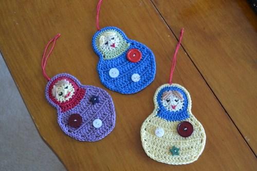 3 matryoshka ornaments for 3 lovely ladies!