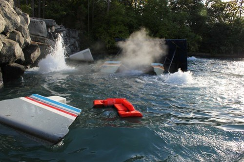 Jaws boat sinking