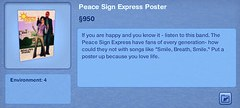 Peace Sign Express Poster
